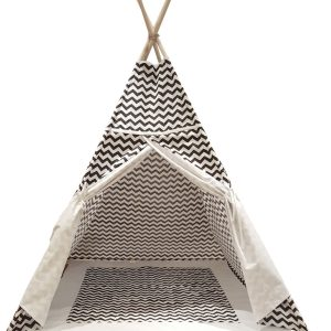 Black-and-White-chevron-kids-teepee-play-tent