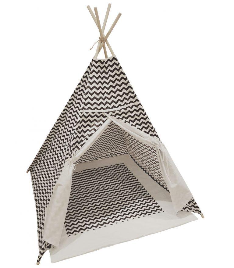 Black-and-White-chevron-kids-teepee-play-tent