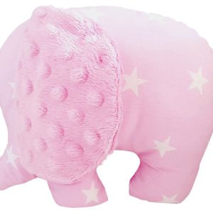 Pink-stuffed-elephant-toy pillow