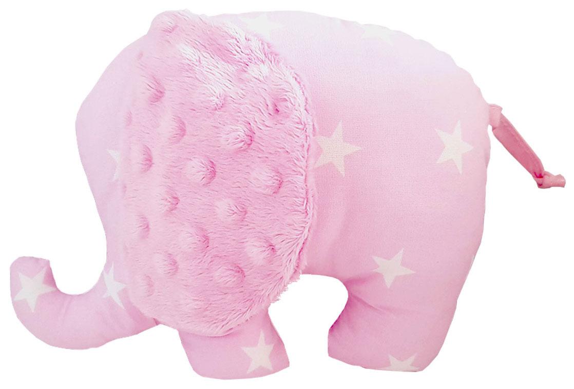 Pink-stuffed-elephant-toy pillow