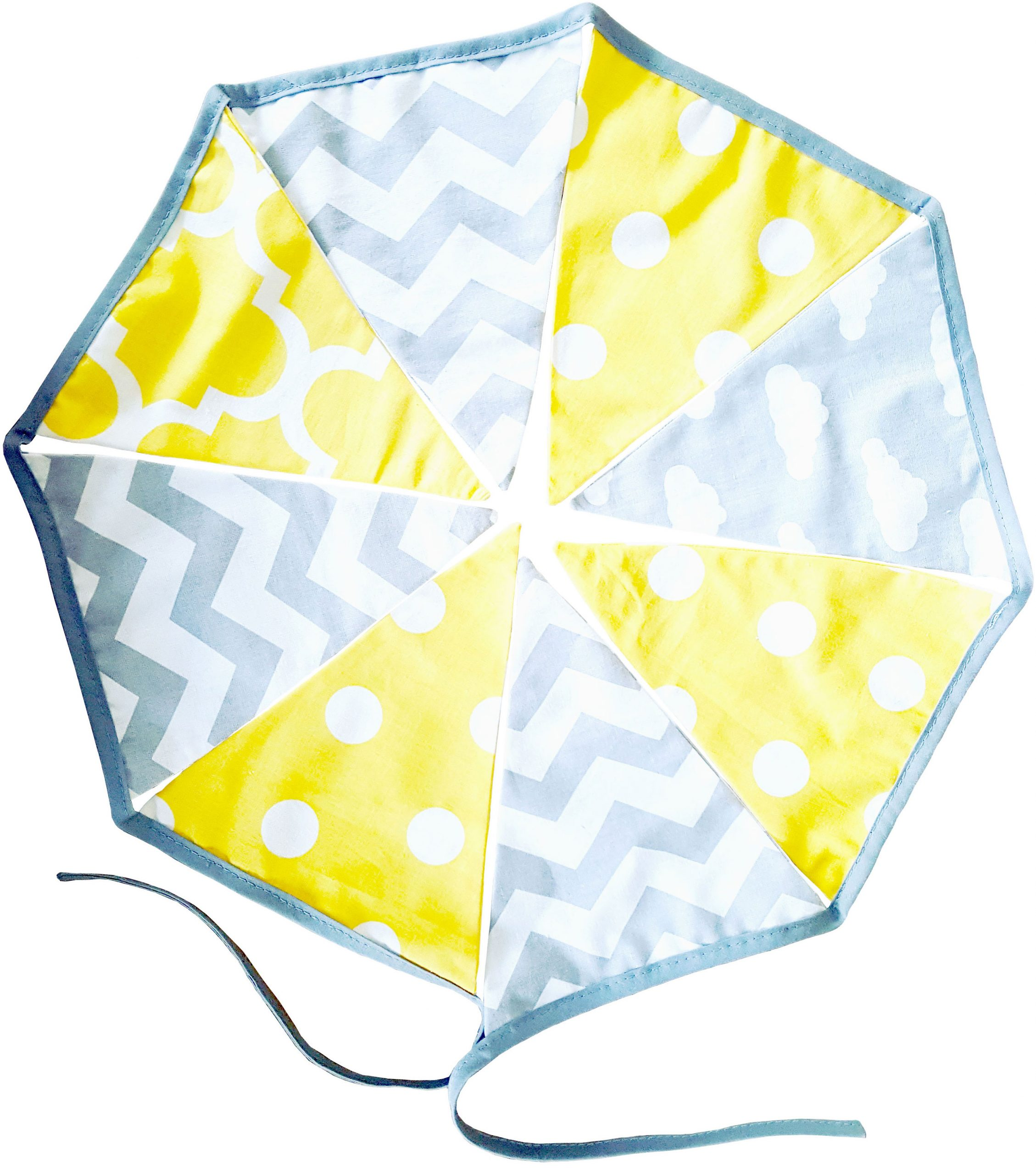 Yellow-and-grey-cotton-fabric-bunting