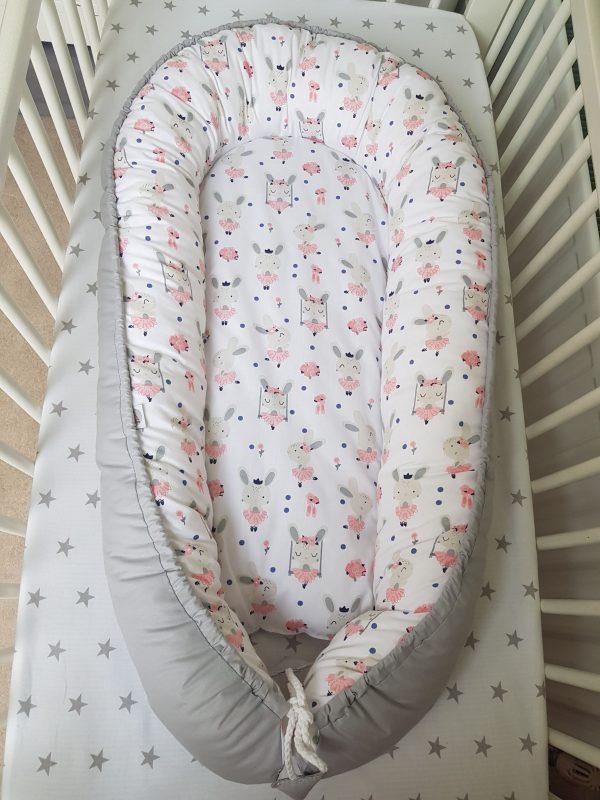 Grey bunnies nest bed 1