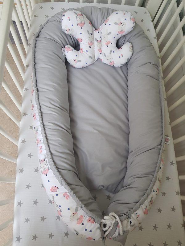 Grey bunnies nest bed 2