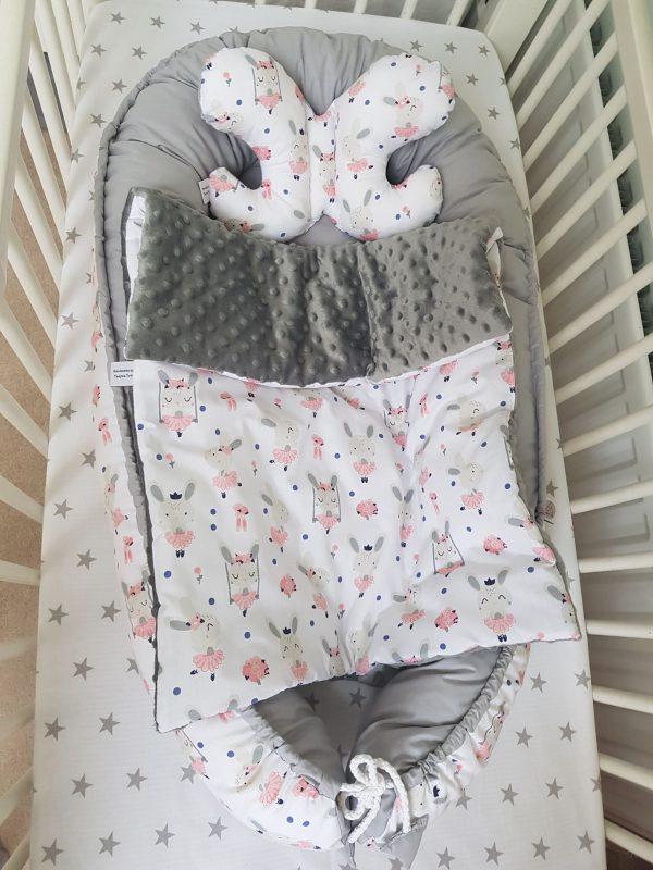 Grey bunnies nest bed 3
