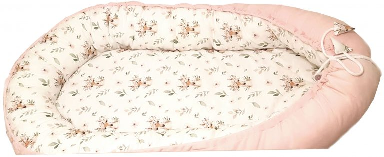 Deer-and-pink-nest-bed