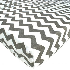 White-and-grey-zigzag-fitted-sheets
