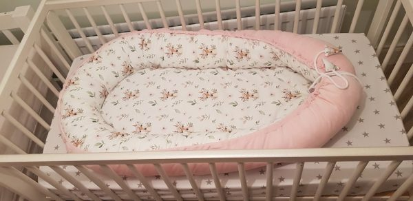 Deer and pink nest bed 2