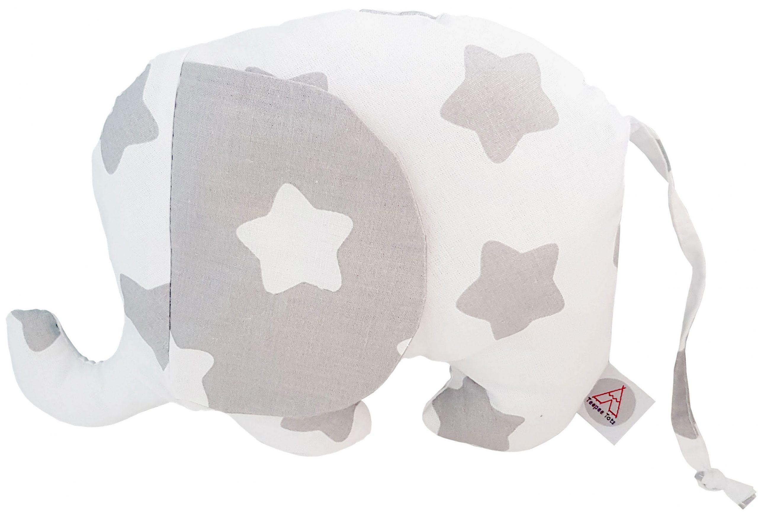 White-and-grey-stuffed-elephant-toypillow