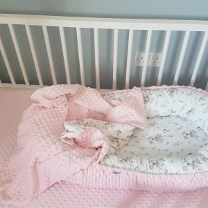 Deer and pink minky nest bed PREMIUM 4