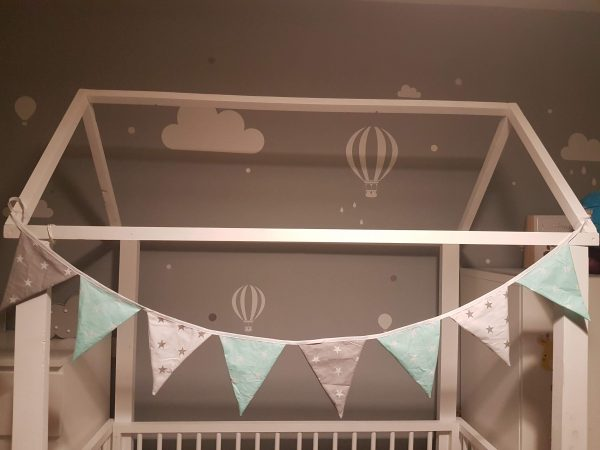 Mint and grey bunting 1