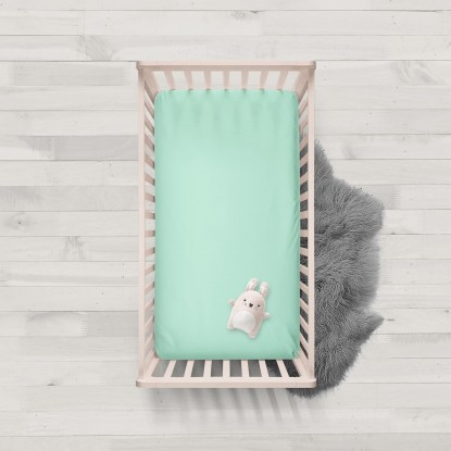 Mint cotton fitted sheets 1