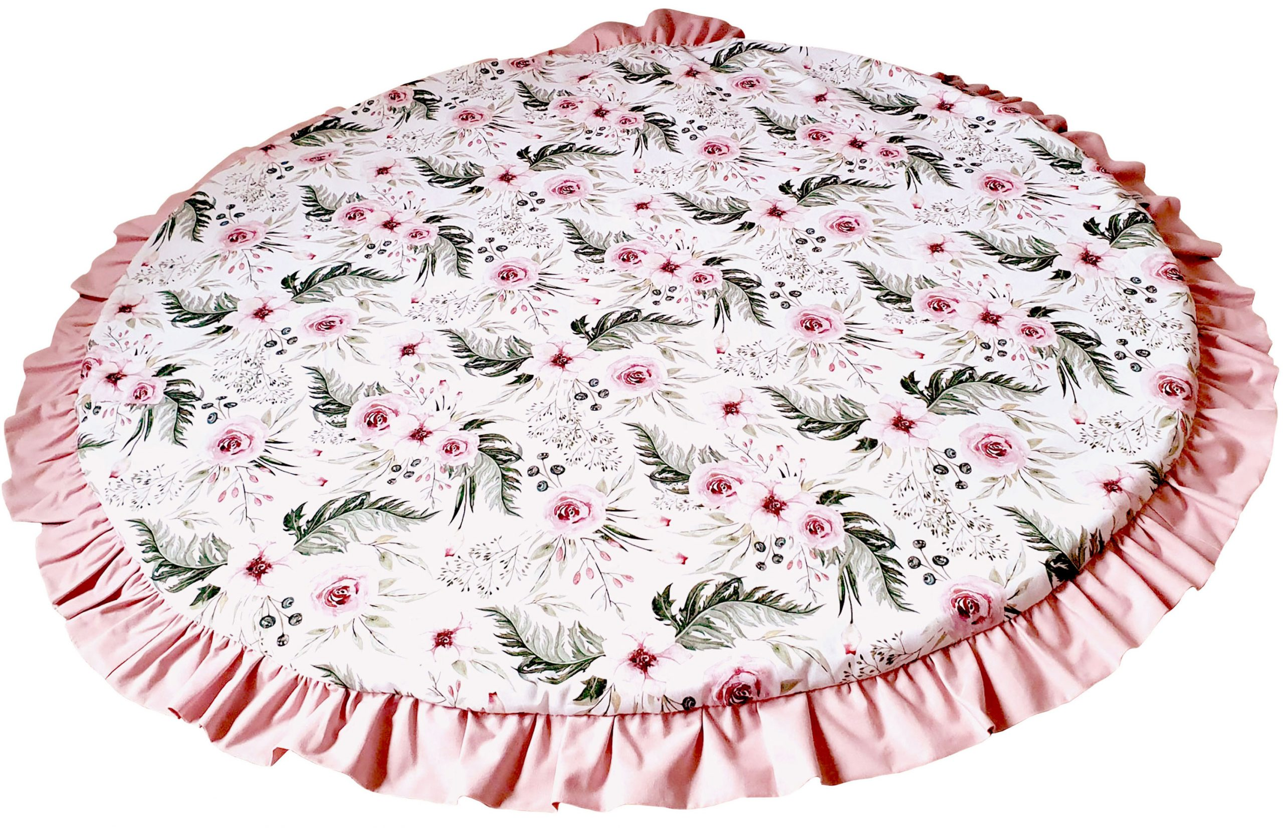 Flowers-and-pink-cotton-floor-mat