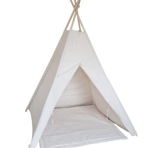 Ivory-canvas-teepee-set