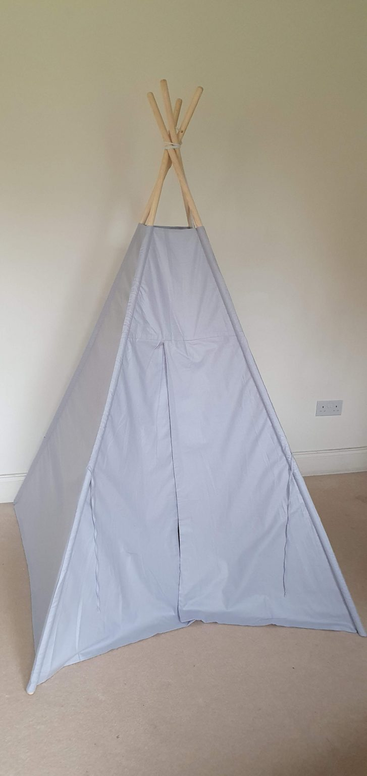 Grey cotton teepee tent set 2