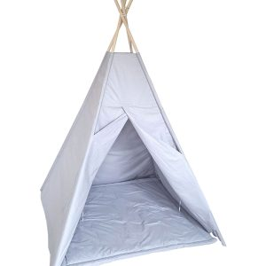 Grey cotton teepee tent set
