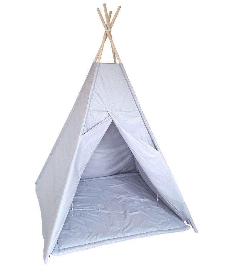 Grey cotton teepee tent set