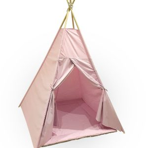 Pink cotton teepee tent set