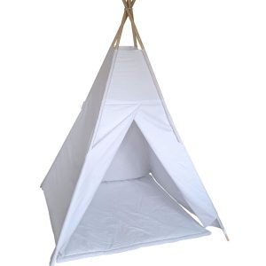 White cotton teepee tent set