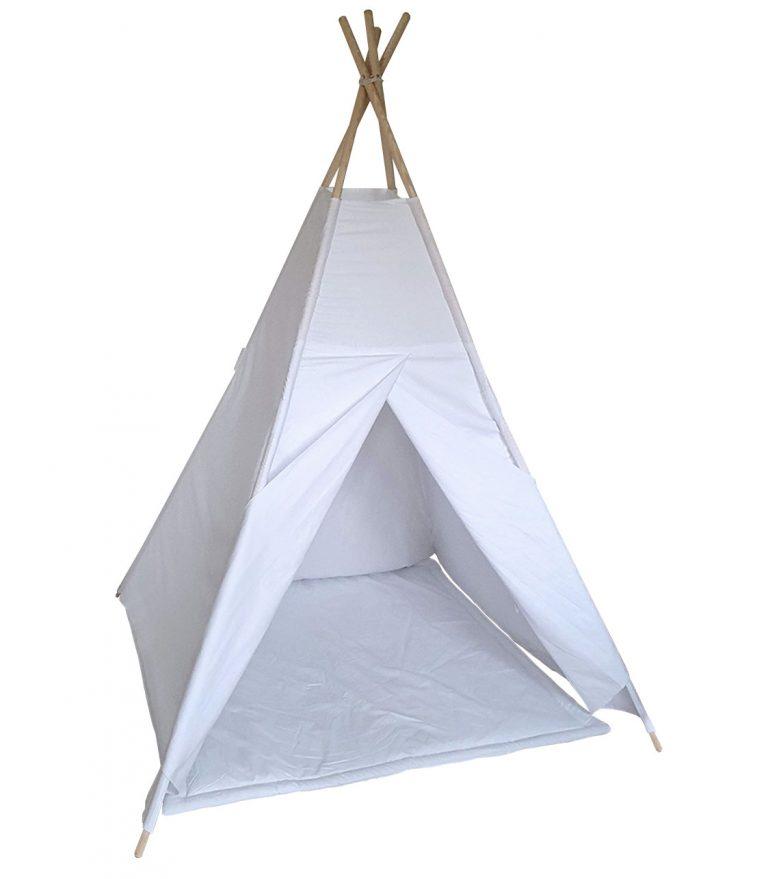 White cotton teepee tent set
