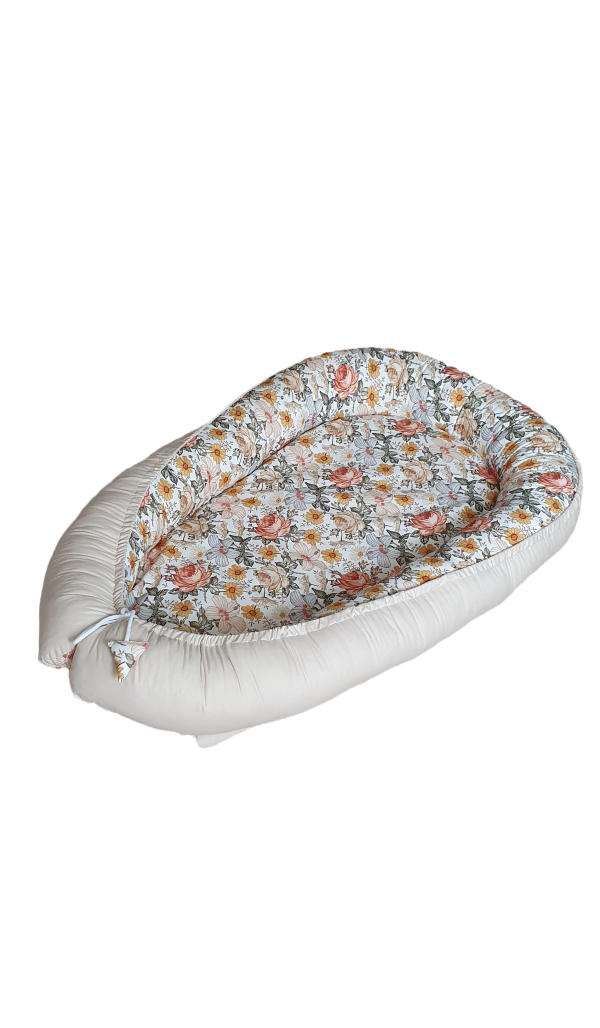 Vintage flowers beige nest bed 1